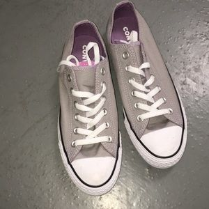 Grey and Purple Converse